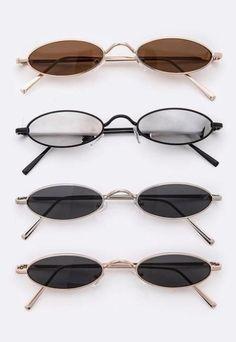 Tiny Oval Sunglasses - Life is Beautiful 2019 , Round Lens Sunglasses, Stylish Sunglasses, Sunglasses Women, Lunette Style, Modele Hijab, Fake Glasses, Fashion Eye Glasses, Accesorios Casual, Sunglass Frames