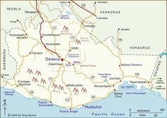 clickable interactive map of oaxaca state mexico oaxaca puerto escondido puerto angel