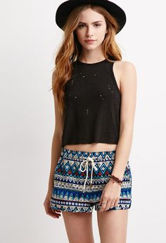 Tribal Print Dolphin Shorts | Forever 21 - 2000077064
