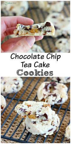 Chocolate Chip Tea Cake Cookies l My Kitchen Craze Cupcakes, Tea Cake Cookies, Yummy Cookies, Yummy Treats, Sweet Treats, Cookie Desserts, Fun Desserts, Cookie Recipes, Delicious Desserts
