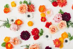 orange blooms by Hey Gorgeous Events | Bradley James