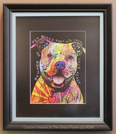 982201d8e30 This pooch is in two mouldings (stacked) by Larson-Juhl Custom Frames. The  Great Frame ...
