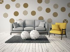 Circle Wall Decals Geometric Wall Decal New by WallStarGraphics