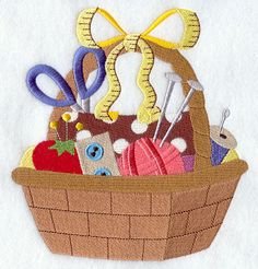 Sewing Basket design (E4509) from www.Emblibrary.com