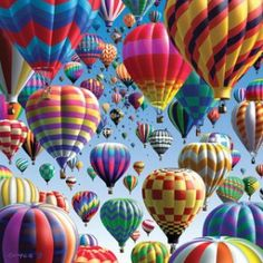 The Albuquerque, New Mexico balloon festival, known as the Albuquerque International Balloon Fiesta®, is the world's largest hot air ballooning event. Balloon Race, Balloon Party, Air Ballon, Hot Air Balloons, Jolie Photo, World Of Color, Over The Rainbow, Pretty Pictures, Rainbow Colors