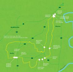 Wine Country Bike Trip In Oregon- Amity Hills Loop