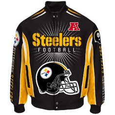 Pittsburgh Steelers G-III Sports Burst Cotton Twill Jacket. Order Your s  Today From. 760cf9d25
