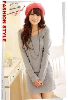 Chic V-neck Full Sleeve Long Pure Color T-shirt for Women on BuyTrends.com, only price $9.50