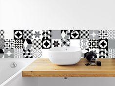 MANUFACTURE - adhésif imperméabilisé façon carreaux de ciment pour crédence : Décorations murales par la-boutique-du-grand-cirque