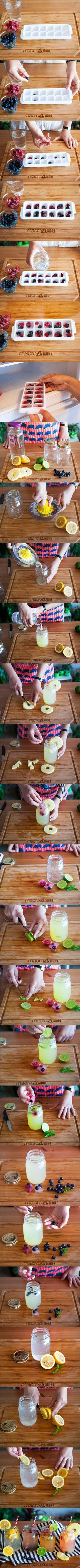 Sıcak havalara lezzetli çözüm! Meyveli buzlar son trend kavanoz bardaklarda...Peki nasıl yapılır? Tüm detayları macromore.com'da! #fresh #best #summer #drink #fruit #love #peppermint #lemon #pineapple #lime #instagood #tips #macrocenter #macroandmore #macrotips