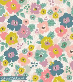 New floral pattern by Silvia Dekker www.silviadekker.nl