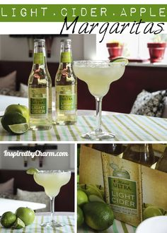 Another margarita, please? inspired by charm: Michelob Ultra Light Cider Apple Margaritas Party Drinks, Cocktail Drinks, Fun Drinks, Yummy Drinks, Yummy Food, Alcoholic Beverages, Cider Cocktails, Cheers, Refreshing Drinks