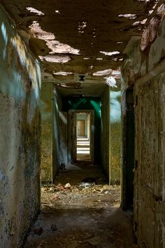 Hallway in the Forst Building at Trenton State Hospital