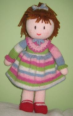 Hand knitted doll Free UK Postage by DreamDollies on Etsy ♡