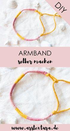 Armband selber machen: Einfaches Freundschaftsband für die beste Freundin basteln - Armband knüpfen mit Anleitung - eine tolle Bastelidee für Kinder in den Sommerferien #armband #freundschaftsband #freundschaftsbändchen