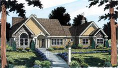 Elevation of Bungalow   European   Ranch   Traditional   House Plan 24953