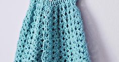 Make a Tiny Little Blue Pinafore for baby... ♥   Pattern available in size newborn to 3 months at Bev's Country Cottage .