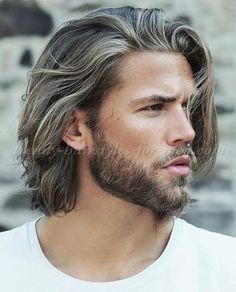 medium length hairstyle for men More