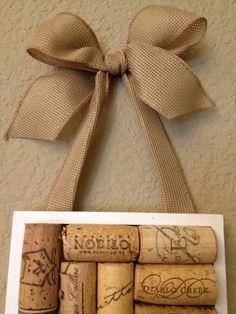 Wine cork board by AshleyColeDesigns on Etsy