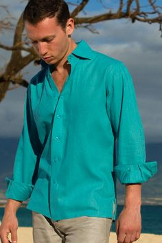 Linen Amalfi Shirt (LS), but in ss father of the bride and best man attire