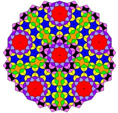 "Girih Tiles.  ""a set of five tiles used to create beautiful and intricate patterns most commonly seen in Islamic architecture""  Mathforum.org"