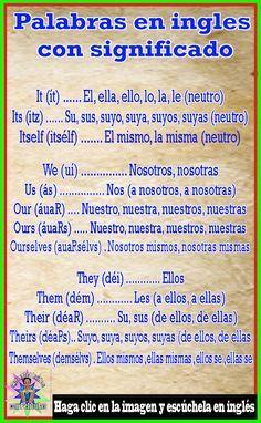 English Articles, English Tips, Spanish English, Spanish Words, English Study, How To Speak Spanish, English Lessons, Spanish Language Learning, English Vocabulary Words