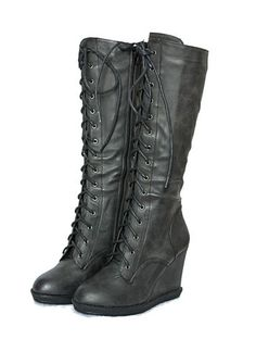 Steampunk Gothic Platform Wedge Lace Up Combat Victorian Boots Retro Vintage   eBay