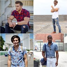 Summer is here which means that the days are sunny and hot while the nights are humid. All in all, it is a sweaty weather and what men need in this weather is men's short sleeve shirts in order to beat the heat! Have a look at some of such shirts!