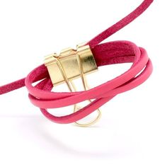 Bracelet Cuir, Fuchsia, Bracelets, Accessories, Jewelry, Bead, Jewlery, Bijoux, Jewerly
