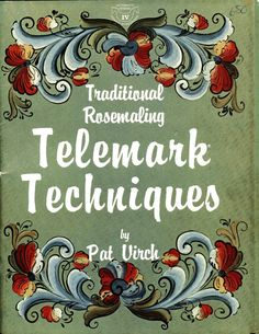 Traditional Rosemaling Telemark Techniques by Pat Virch Norwegian Folk Painting   eBay