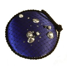Navy Anique Shell Dotted Sea Scape Fascinator  Ladies by Milliness, $80.00