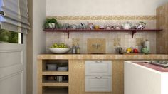 Marca Corona tiles, virtual image, rendered with DomuS3D and mental ray
