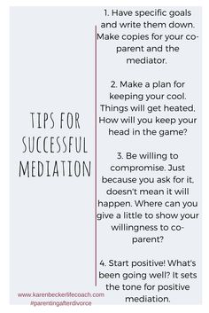Mediation is less costly than litigation and puts you and your co-parent in the drivers seat instead of a Judge.