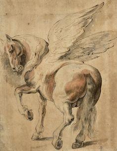 Anonymous after Peter Paul Rubens Rubens Paintings, Clown Paintings, Horse Drawings, Animal Drawings, Art Drawings, Peter Paul Rubens, Albertina Wien, Unique Drawings, Principles Of Art