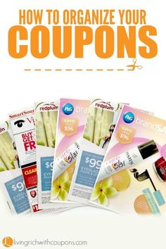 How to Organize Your Coupons - Whole Insert File Method - Organize in less then 60 seconds!