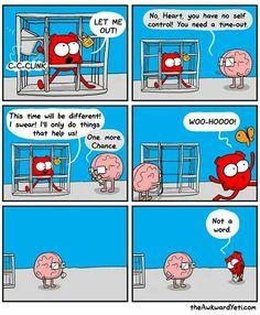 Ideas funny love comics awkward yeti for 2019 Akward Yeti, The Awkward Yeti, Funny Cartoons, Funny Comics, Heart And Brain Comic, Life Comics, Medical Humor, Funny Love, Illustrations