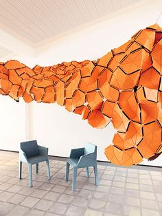 Amazing felt sculpture by Anne Kyyro Quinn. -  Felt has the potential to absorb to some extent.