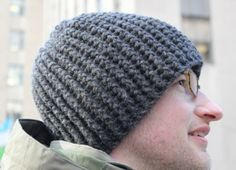 free crochet pattern for thick warm textured hat