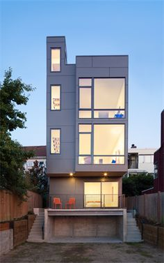Ave City Homes Unit C - contemporary - Exterior - Seattle - Malboeuf Bowie Architecture