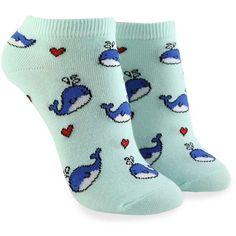 Forever21 Blue Whale Ankle Socks ($1.90) ❤ liked on Polyvore featuring intimates, hosiery, socks, blue socks, blue ankle socks, tennis socks, cotton ankle socks and forever 21 socks