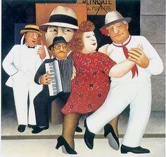 Beryl Cook Tango Busking :: Beryl Cook :: Jamie Leigh Original Art and Framing Frida Diego, Tango Art, Beryl Cook, Tango Dancers, Plus Size Art, Dance Paintings, Pastel Paintings, Funny Sexy, English Artists
