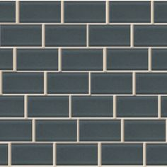 American Olean 10-Pack 12-in x 12-in Legacy Flint Glass Mosaic Subway Wall Tile (Actuals 14-1/4-in x 12.75-in)