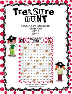 FREE Treasure Hunt Game for Kindergarten or 1st grade students. It lets them practice numbers 1-120. Click through for your FREE copy today!