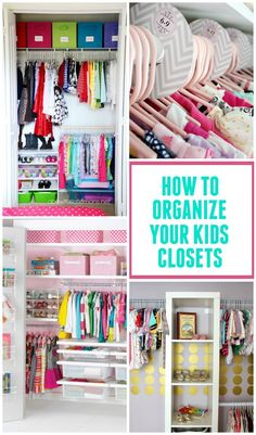 Check out these great kids closet organization ideas to help keep those rooms neat & tidy! Are you tired of all the clutter? Want a good start this New Year? Look at these great kids closet organization ideas on Design Dazzle and be inspired! Kid Closet, Closet Space, Closet Ideas, Room Closet, Organizar Closets, Organiser Son Dressing, Kids Bedroom, Bedroom Decor, Kids Rooms