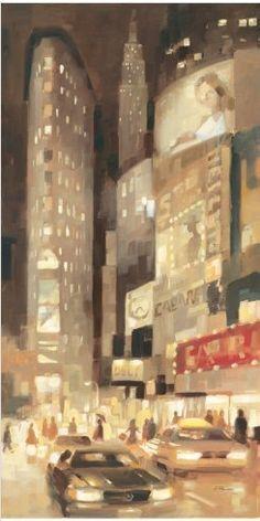 Midtown Glow by Paulo Romero #art #cityscape