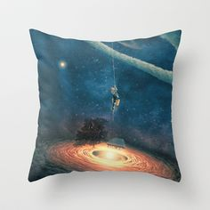 My dream house is in another galaxy Throw Pillow by Paula Belle Flores - $20.00