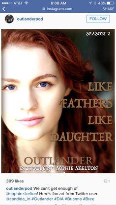 Outlander: Sophie Skelton as Brianna