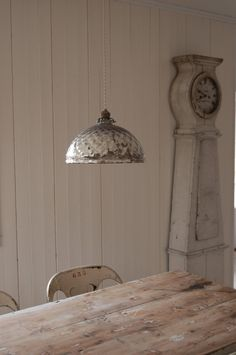 Swedish country.. idea for silver painting the inside of a clear glass shade.