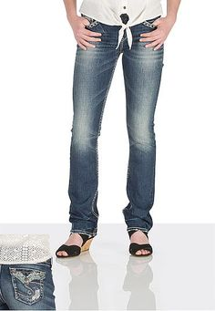 silver jeans co. � Tuesday stud pocket medium rise jeans (original price, $98) available at #Maurices