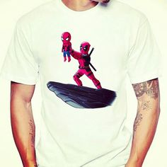Are you a fan of #deadpool or #spiderman? Either way spiderman is cute as over here! 8 days till store opening! Get this tee when Hitpointarcade.com goes live! #marvelcomics #spidermanfan #spidermanhomecoming #deadpool2 #geeklife #nerdlife #marvel #marvelmovies #marveluniverse #theavengers #nerdtees #geektees #deadpoolfan